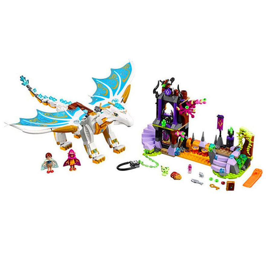 841pcs Elf Queen Dragon's Rescue 10550 Model Building Block Children Fairy Princess Girl Toys Bricks Compatible with Legoe Elves 2018 new girl friends fairy elves dragon building blocks kit brick toys compatible legoes kid gift fairy elves girls birthday