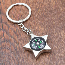 BYCOBECY New Key Holder Smart Car Key Wallet Creative Personality Star Metal Keyholder Five-pointed Star Compass Pendant 2019(China)