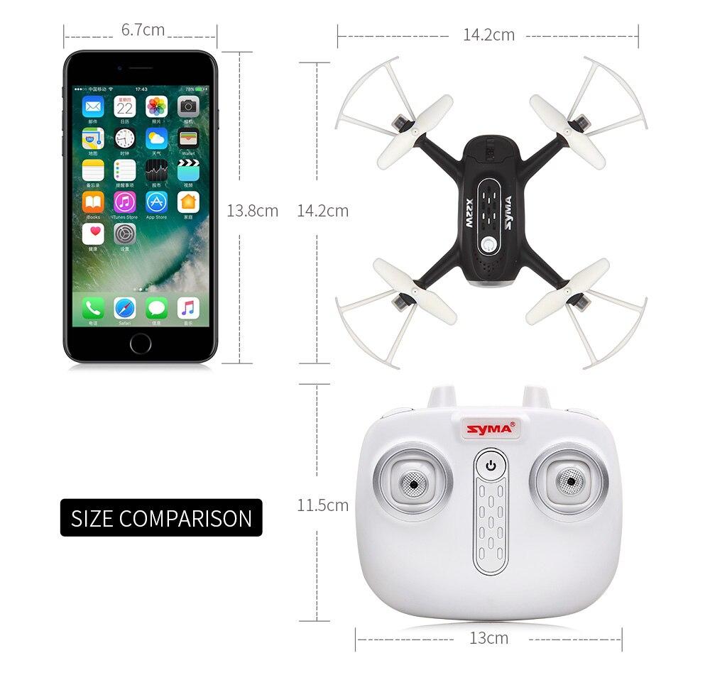 X22w Дроны с Камера FPV системы Wi Fi в режиме реального времени 2.4GH 4ch headless режим парение Функция Мультикоптер Дрон красного цвета - 5