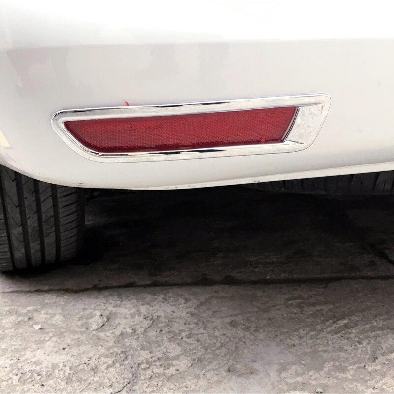 ABS Chrome Rear Fog Light Fog Lamp Cover Trim 2pcs For Honda City 2014 2015 2016