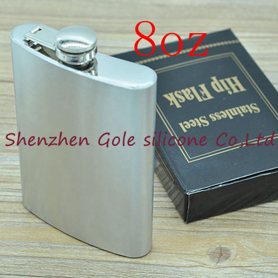 500pcs 8oz Stainless Steel Pocket Flask Russian Hip Flask Male Small Portable Mini Shot Bottles Whiskey Jug Small Gifts For Man