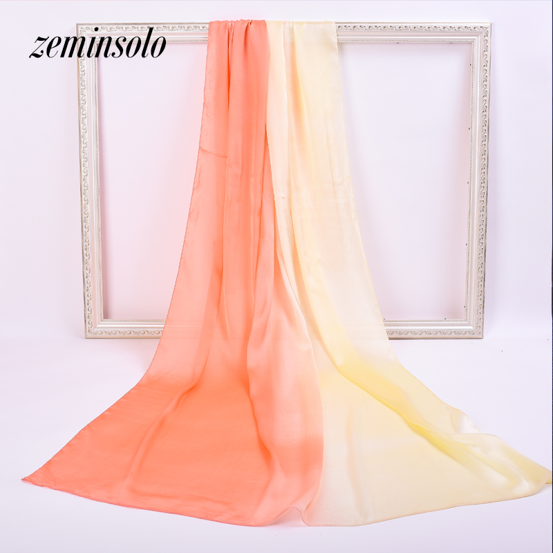 Big Size 90*180cm Silk Scarves for Women Bandana Wrap Fashion Luxury