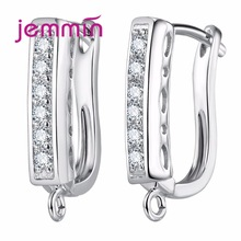 Jemmin Genuine 925 Sterling Silver Handmade Findings Earring Fine Jewelry Components Hooks Leverback Earwire Fittings Accessory