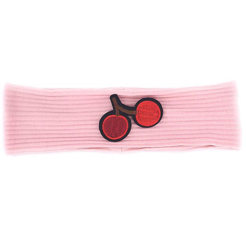 GZhilovingl повязка на голову для новорожденных мальчиков и девочек с вишневым узором Мягкие Детские хлопковые стрейч-головной убор, повязка на голову, подарок для новорожденных