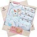 14 Pçs/lote 2017 Conjunto Caixa de Presente do Bebê Recém-nascido Menina Roupas Outono Pequeno Esquilo Personagem de Algodão Grosso Bebê Roupas Menino