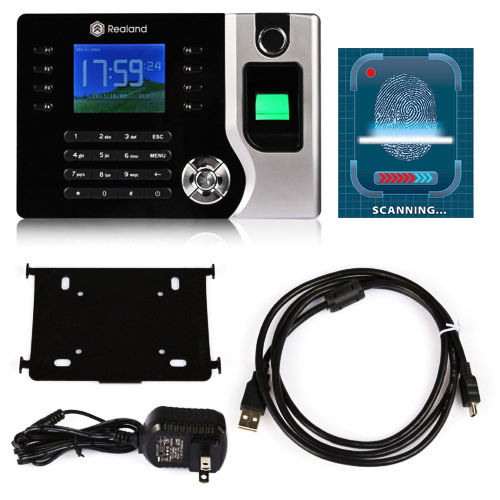 A-C071 Free Shipping 2.4 Biometric Fingerprint Attendance Time Clock with ID Card Reader+USB,100,000 Attendance Record Capacity a c030t fingerprint time attendance clock id card tcp ip usb