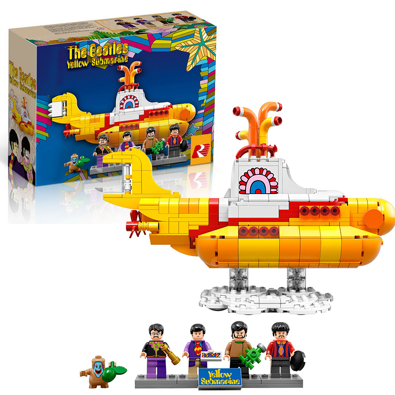 Lepin 21012 The Beatles Yellow Submarin building bricks blocks Toys for children boys Game Model Gift Compatible with Bela 21306 lepin 22001 imperial flagship building bricks blocks toys for children boys game model car gift compatible with bela decool10210
