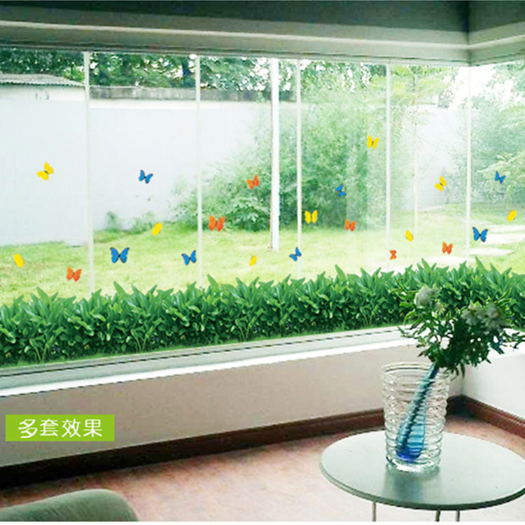 3D Sticker Cartoon Decorative painting Wall Sticker Wall Decal Home Decor Adhesive Art Mural Greening Wall stickers skirting