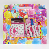 New 16pc/set ballet theme pink girls series birthday party tableware festival event gift box supplies