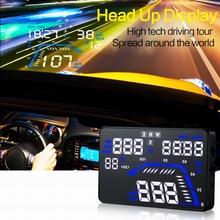 Q7 Universal Head Up Display HUD 5.5 pulgadas GPS Del Coche Velocímetro Sobrevelocidad Tiempo Kilómetros de Conducción Parabrisas Dashboard Proyector