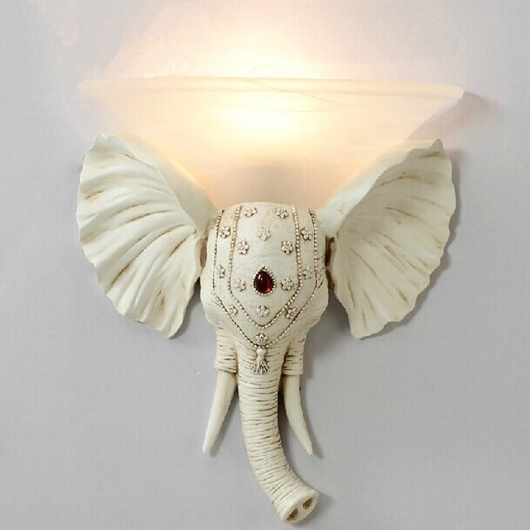 Couloir eléphant applique murale avec abat-jour en verre Art Studio résine applique Arandela chevet allée salle de bain miroir éclairage