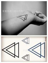 Harajuku Waterproof Temporary Tattoos For Men Women Fashion 3d Triangle Design Flash Tattoo Sticker HC-107