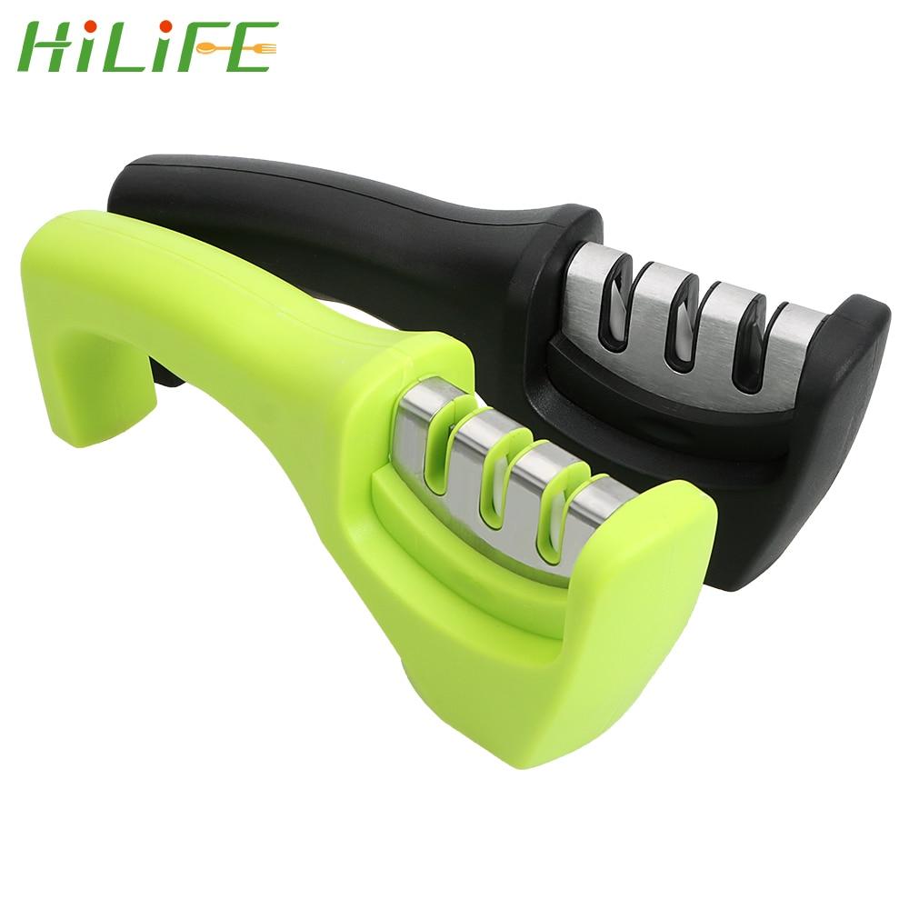 HILIFE точилка для ножей точильные ножи гаджеты для заточка для кухни инструменты трехступенчатый шлифовальный камень