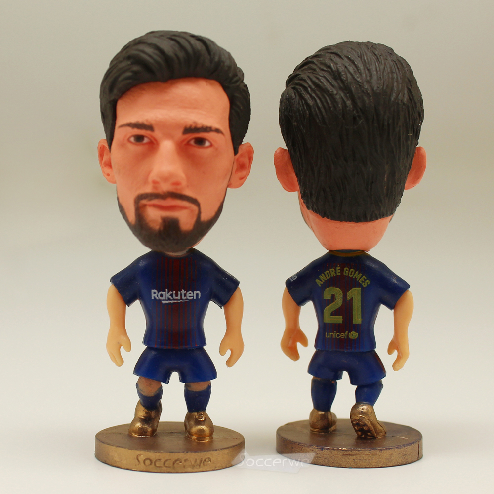 Football star Soccer Star 21# ANDRE GOMEZS (B-2018) 2.5 Action Dolls Figurine