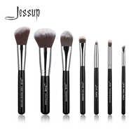 Jessup Marque Noir 7 pièces pinceaux à Maquillage Professionnel ensembles Beauté Outils Kit Cosmétique Fard À Paupières Fondation fard à joues maquillage brosse