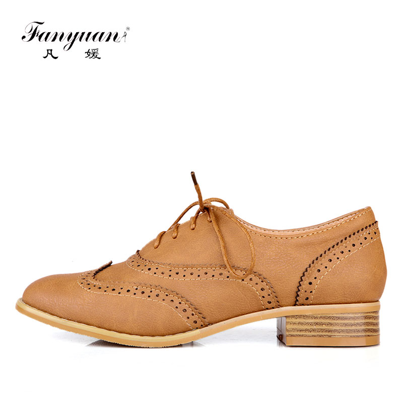 Fanyuan Oxford flats women shoes 2018 concise Pointed toe Sewing Lace-up solid flats comfort lady Dress oxford shoes size 34-43 2016 lace up women flats solid color spring flats pointed toe flats sole platform shoes woman size 34 39 casual women shoes
