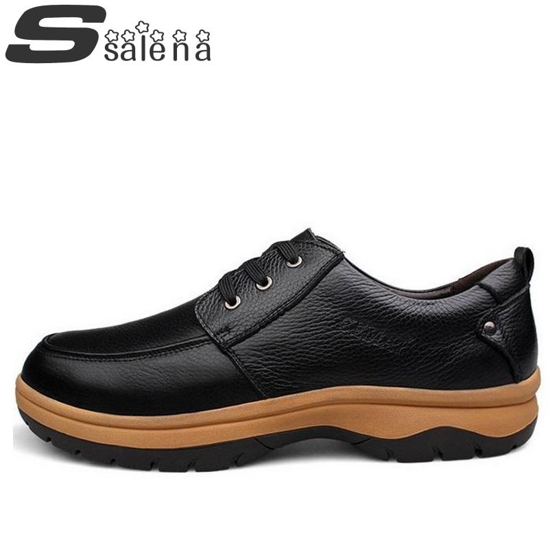 Eu54 Men Leather Shoes Oxford Dress Shoes For Men Business Leather Shoes Men Lace Up Casual Shoes Big Size B172 huracche 2016 brand men casual shoes lace up breathable black dress shoes for men big size chelsea light up oxford