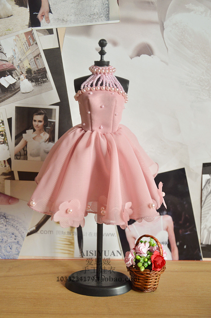 Autonomous design handmade Gifts For Girls Doll Accessories Evening Suit pink Wedding Dress Clothes For Barbie Doll BBI00781 autonomous design handmade gifts for girls doll accessories evening suit wedding dress clothes for barbie doll bbi00508