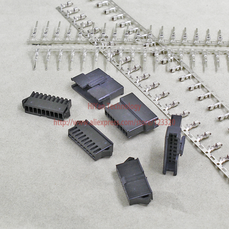 (25sets/lot) connectors SM SM2.54 9Pin Pitch:2.54MM Female and Male Housing + terminals SM-9P JST 2.54MM SM2.54