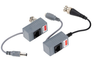 Image 4 - 10pcs CCTV Camera Accessories Audio Video Balun Transceiver BNC UTP RJ45 Video Balun with Audio and Power over CAT5/5E/6 Cable