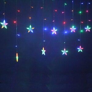 Image 5 - 2M Star Fairy Lights Christmas Star String Lights Garland Led Curtain Wedding/Home/Party/Garden/Birthday Decoration Lighting