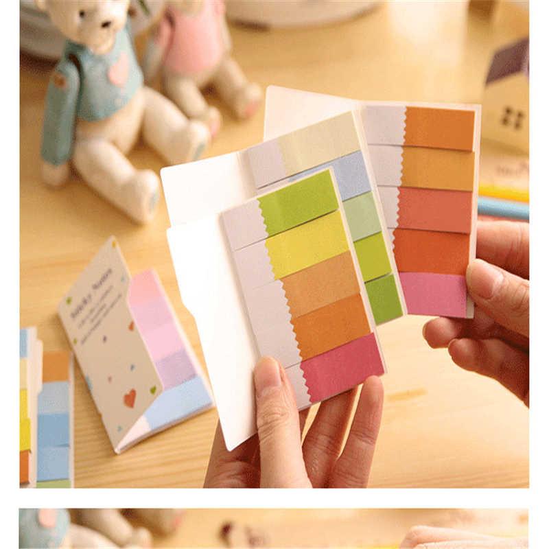 F002 יום כתיבה יצירתית קוריאנית צבע קשת טרי ויפה N דו צדדי מדבקת מכתבים עבור ציוד משרדי תלמיד