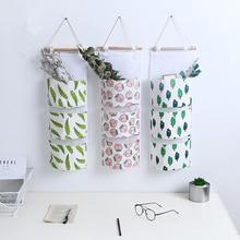 Three Pocket Wall Multi-layer Storage Bag Sundries Hanging Finishing Waterproof Sock Underwear Organizer