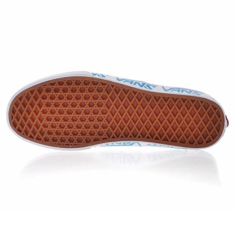 Nueva llegada Original Vans hombre y para mujer Skateboarding zapatos auténticos bosquejo flanco lona zapatillas cómodo VN0A38EMQ6D en Zapatos de