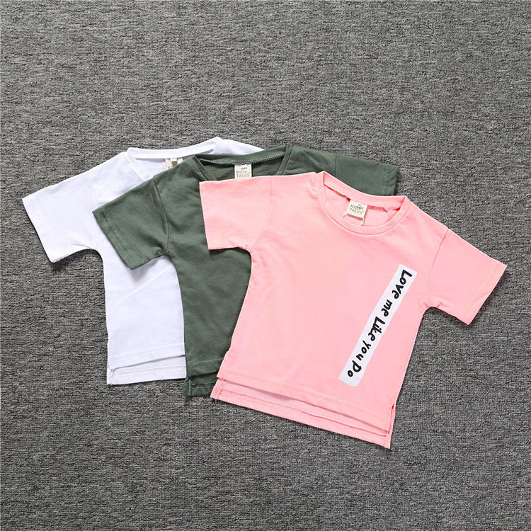 Ubetoku summer baby boy girls cotton tshirt kids comfortable short-sleeved T-shirt childrens clothing 3colors