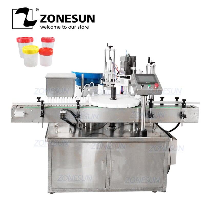 Zonesun Desktop Elektrische Plastic Glas Kristal Water Parfum Shampoo Cosmetische Nagellak Fles Automatische Capping Machine