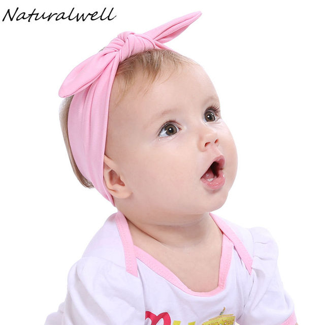 Naturlwell Baby Headband Knot tie headbands headwrap Vintage Head Wrap  Photo Prop stretchy Knot Girls Hair Accessories 1pc HB305 78b203fd2ed