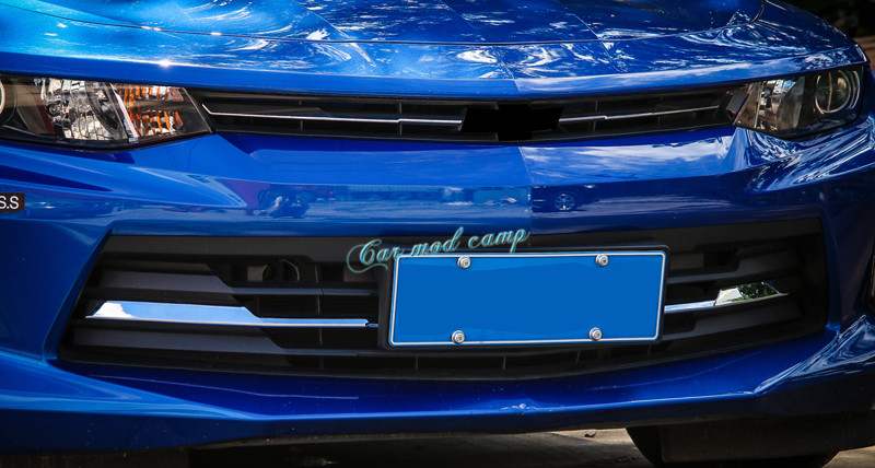 For Chevrolet Camaro 2016 2017 ABS Front Center Grille Grid Cover Decoration Trim 4pcs Car Styling Car Styling Accessories! 3d ss car front grille emblem badge stickers accessories styling for jaguar honda chevrolet camaro cruze malibu sail captiva kia