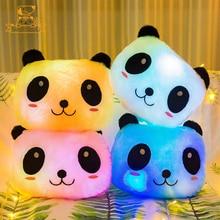 Glowing Panda Dog Pig Pillow Cute LED Light Up Cartoon Animal Plush Stuffed Toys Kawaii Luminous Cushion Doll Glow Girl Kid Gift