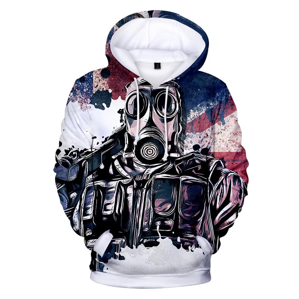 2019 3D Rainbow Six Siege In Mens Hoodie Hot Sale Hoodies Sweatshirts Game Outerwear Hooded Casual Apparel Spring/Autumn 4XL