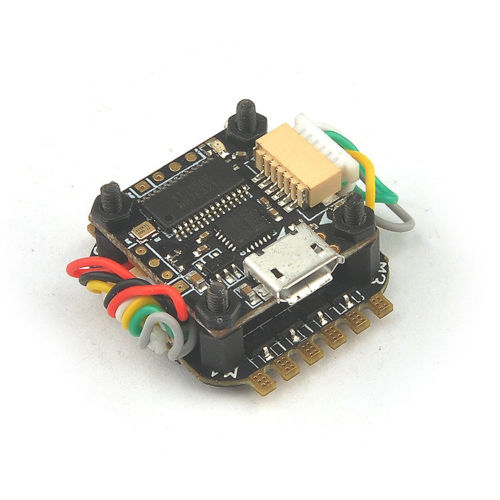 JMT Teeny1S F3 Flight Controller Board Built-in Betaflight OSD + 4 In 1 6A BLHeli_S ESC for 60mm-80mm Mini FPV Quadcopter Drone betaflight omnibus f4 flight controller built in osd power supply module bec for fpv quadcopter drone accessories fpv aerial pho