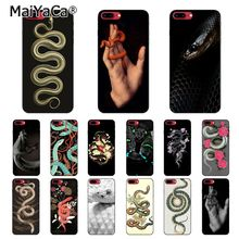 MaiYaCa Hand Snake Flower Snake Painting Phone Case For iphone 11 Pro 11Pro Max 6S 6plus 7 7plus 8 8Plus X Xs MAX 5 5S XR black with white moon stars space astronaut phone case shell for iphone 6s 6plus 7 7plus 8 8plus x xs max 5 5s xr 11pro max
