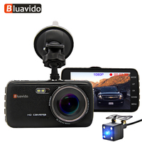 Bluavido 4 Inch Full HD 1080P Car DVR Camera WDR Night Vision ADAS Dash Cam 170 degree Angle Dual Lens Video Recorder Blackbox
