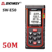 SNDWAY-E50 50 М Лазерный Дальномер Лазерный Дальномер Лазерный Дальномер Лазерный Рулетка RZ50 Тестер Площадь-объем-угол инструмент