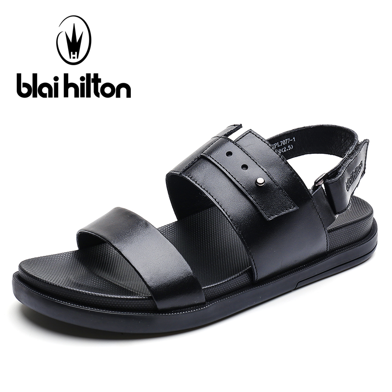 Blaibilton Summer Luxury Genuine Leather Gladiator Sandals Men Shoes Classic Sandalias Casual Slippers For Mens Sandales SDL7077