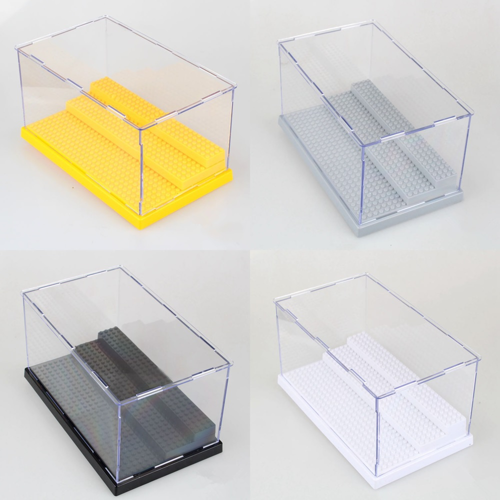 Acrylic Box Construction : Steps display box dustproof showcase for building blocks