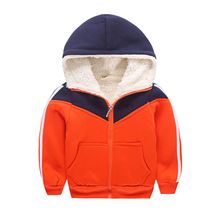 European Style New 2016 winter boy coat kids's clothes heat trench thickening youngsters coat jacket age from 2-8T
