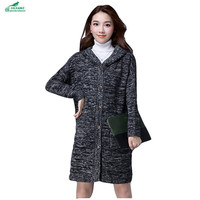 Women S Spring Clothing New Korean Long Paragraph Sweater Cardigan Sweater Outerwear Women S Autumn Jacket