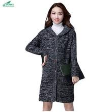 Women's spring clothing new Korean long paragraph sweater cardigan sweater Outerwear women's  autumn jacket women OKXGNZ QQ1034