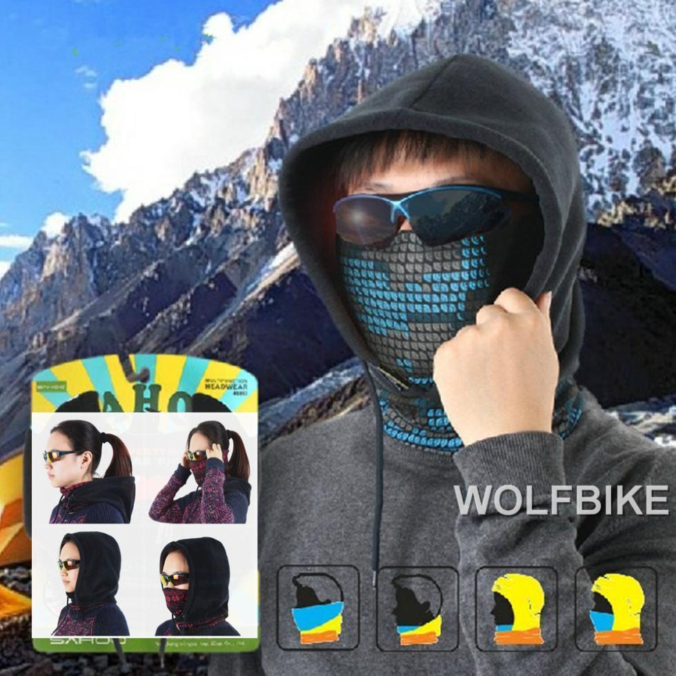 Gorra Wosawe Men Winter Sports Fleece Thermal Cycling Cycle Bicycle Snow Skiing Ski Skating Motorcycle Hat Mask Headwear Scarf
