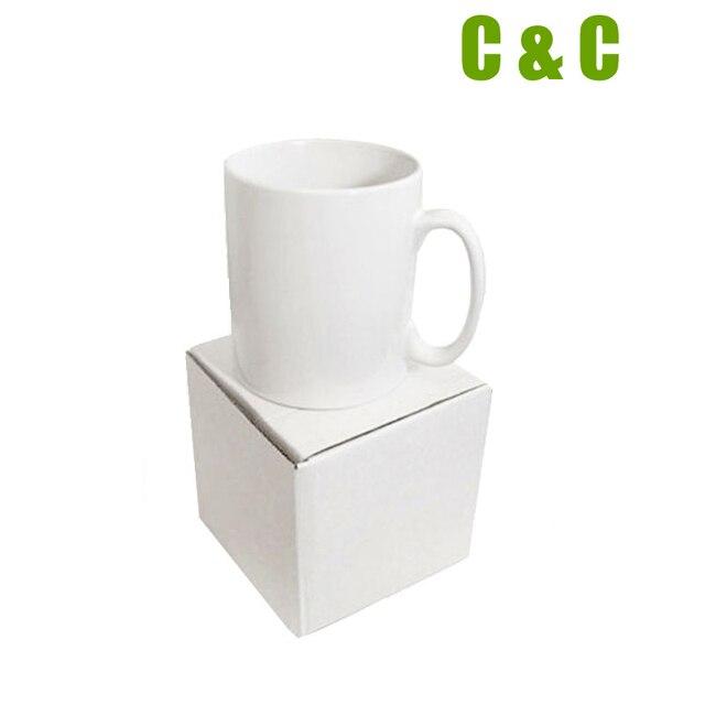 d11367d66 Caneca sublimação em branco cerâmica branca sem impressão DIY Foto presente  use máquina da imprensa da