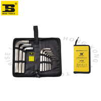 Free shipping 3 17mm 9pc allen hex wrench set in a portable bag