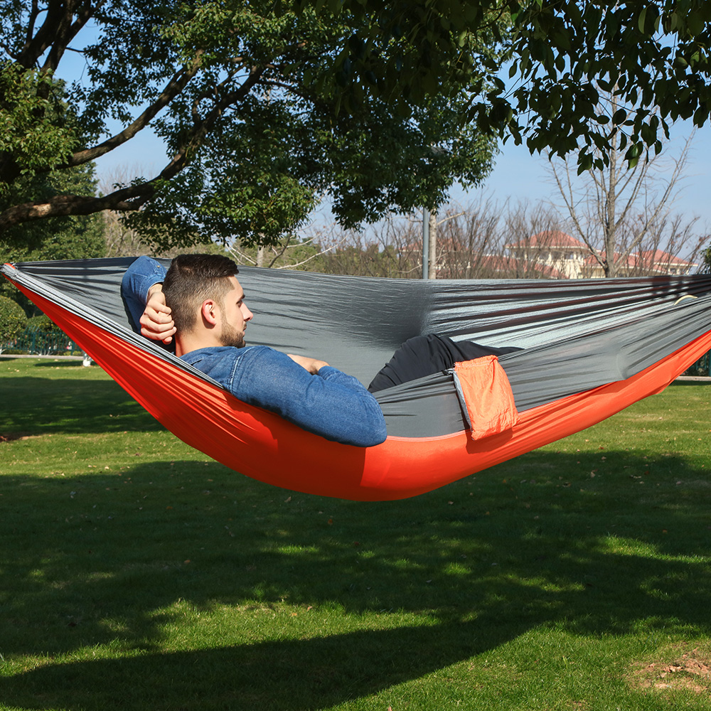 1 Person Parachute Hammock Portable Army Survival Hammocks Travel Hamaca Flyknit Hamak Nylon Hamaca Hamak Camping Hamac Rede(China)