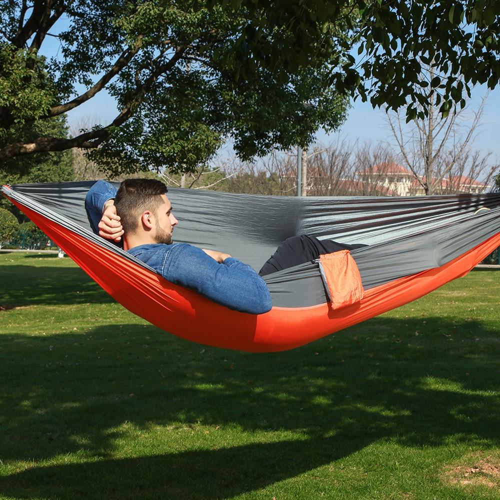 1 persoon parachute hangmat draagbare leger survival hangmatten reizen Hamaca Flyknit Hamak Nylon Hamaca Hamak Camping Hamac Rede