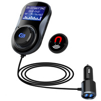 Bluetoothハンズフリーfm変調器ステレオ車のmp3プレーヤーオーディオアダプターfmトランスミッタのサポートuディスクtf用iphone x 8 7 &アンドロイド