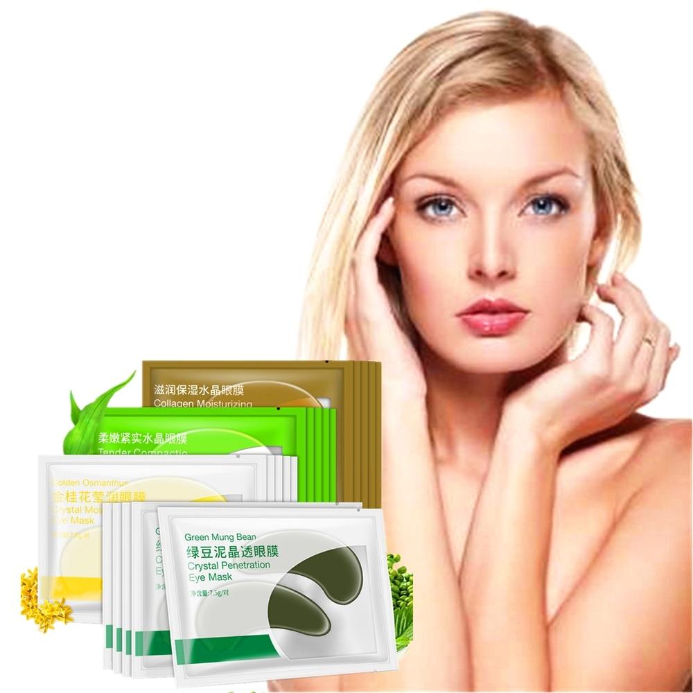 Creams Eyes Epacket 8pcs/4packs Fruit Essence Collagen Eye Mask Anti-wrinkle Sleeping Eye Patch Dark